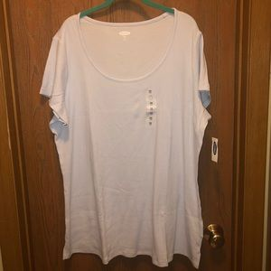 NWT Old Navy Plus Size 3x Blue Knit Scoop T-shirt